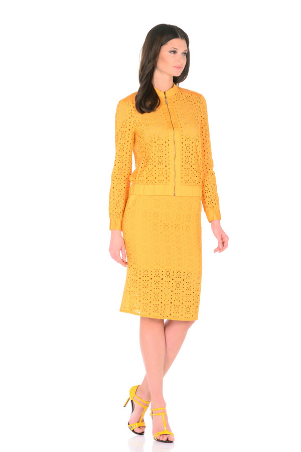 Куртка XARIZMASКуртки<br><br><br>Размер RU: 40<br>Пол: Женский<br>Возраст: Взрослый<br>Материал: хлопок 95%, эластан 5%<br>Цвет: Жёлтый