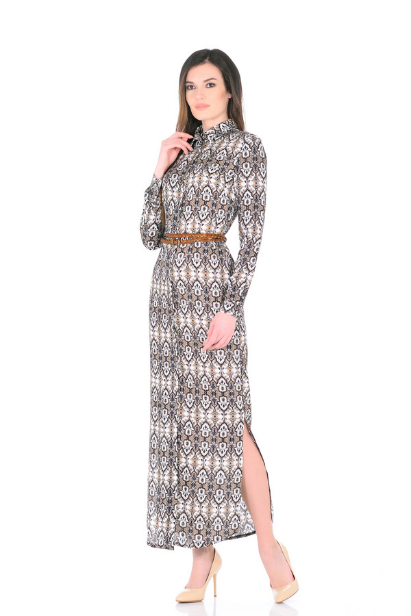 Платье XARIZMASПлатья<br><br><br>Размер RU: 46<br>Пол: Женский<br>Возраст: Взрослый<br>Материал: вискоза 100%<br>Цвет: Бежевый