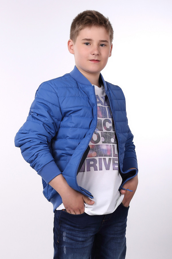 Куртка Tom TailorКуртки<br><br><br>Размер RU: 46;176<br>Пол: Мужской<br>Возраст: Детский<br>Материал: см. на вшивном ярлыке 0%<br>Цвет: Синий
