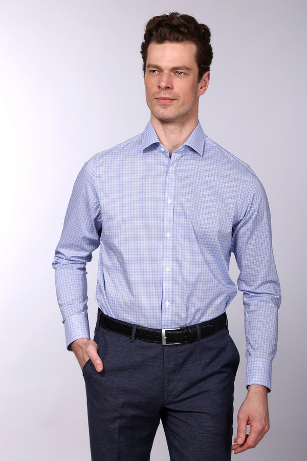 Рубашка с длинным рукавом VentiДлинный рукав<br><br><br>Размер RU: 44<br>Пол: Мужской<br>Возраст: Взрослый<br>Материал: хлопок 100%<br>Цвет: Белый