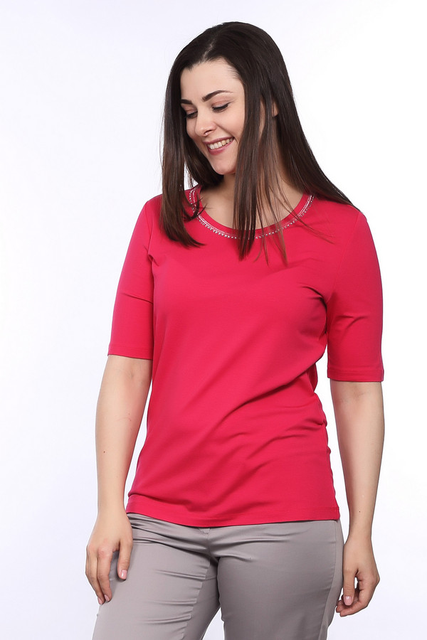 Футболка Betty BarclayФутболки<br><br><br>Размер RU: 50<br>Пол: Женский<br>Возраст: Взрослый<br>Материал: эластан 5%, вискоза 95%<br>Цвет: Розовый