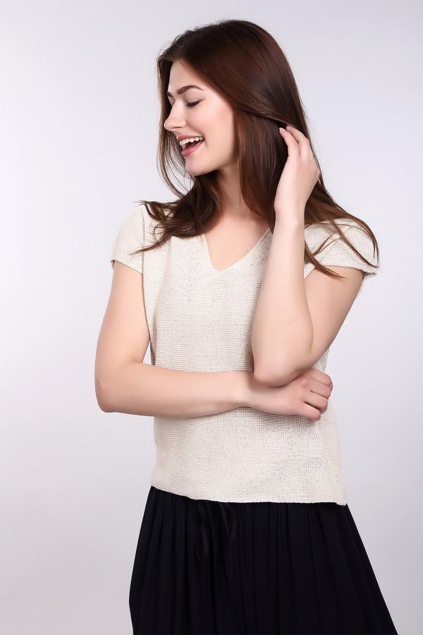 Пуловер CommaПуловеры<br><br><br>Размер RU: 44<br>Пол: Женский<br>Возраст: Взрослый<br>Материал: эластан 4%, полиамид 17%, хлопок 40%, полиакрил 35%, метализ.полиэстер 4%<br>Цвет: Бежевый