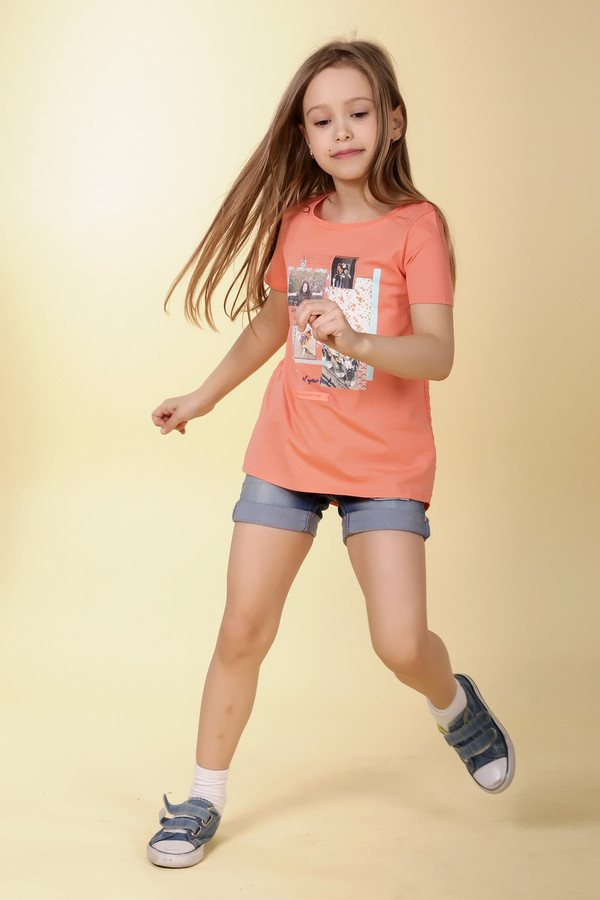 Футболки и поло Tom TailorФутболки и поло<br><br><br>Размер RU: 30;116-122<br>Пол: Женский<br>Возраст: Детский<br>Материал: см. на вшивном ярлыке 0%<br>Цвет: Оранжевый