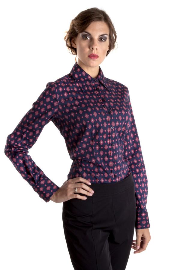 Рубашка с длинным рукавом Just ValeriДлинный рукав<br>Темно-синяя женская рубашка Just Valeri приталенного кроя с ярким восточным принтом. Изделие дополнено: отложным воротником и манжетами с пуговицами. Центральная часть изделия застегивается на пуговицы. Прекрасно будет смотреться с классическими юбками и брюками.<br><br>Размер RU: 48<br>Пол: Женский<br>Возраст: Взрослый<br>Материал: хлопок 78%, спандекс 3%, нейлон 19%<br>Цвет: Разноцветный