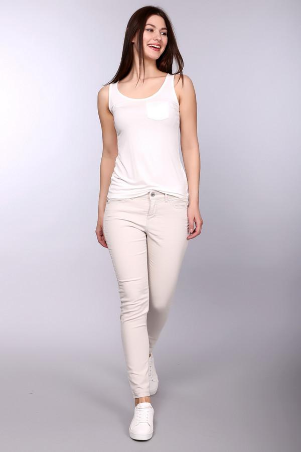 женские брюки mac, бежевые