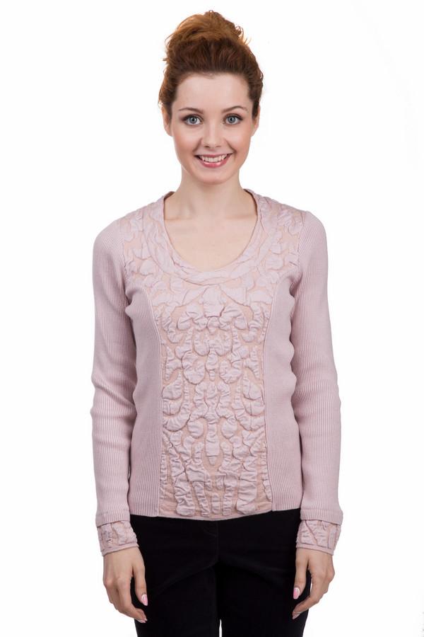 Пуловер MonariПуловеры<br>Женский пуловер фирмы Monari. Данный пуловер бежевого цвета, с круглым, глубоким вырезом и длинным рукавом. Это трикотажный пуловер, который дополнен вязанными звериными узорами.<br><br>Размер RU: 46<br>Пол: Женский<br>Возраст: Взрослый<br>Материал: эластан 1%, полиакрил 46%, вискоза 46%, полиэстер 7%<br>Цвет: Розовый