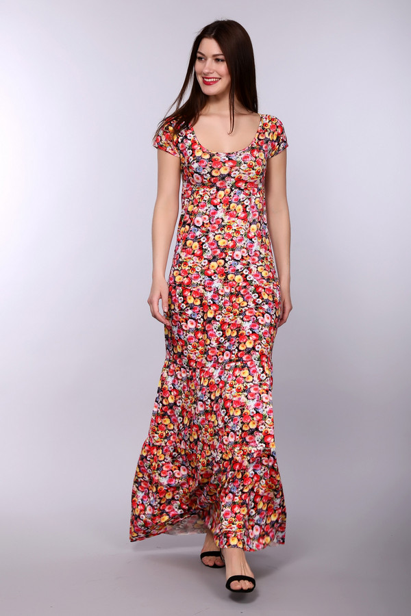 Платье PezzoПлатья<br><br><br>Размер RU: 40<br>Пол: Женский<br>Возраст: Взрослый<br>Материал: эластан 8%, вискоза 92%<br>Цвет: Разноцветный