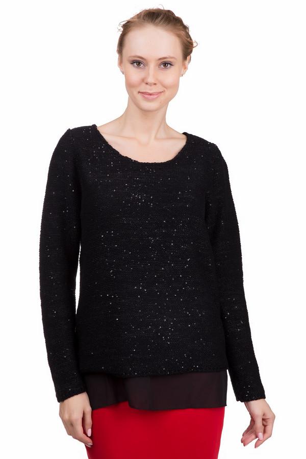 Пуловер LebekПуловеры<br>Черный полусинтетический пуловер Lebek с длинными рукавами, тщательно украшенный пайетками. У этого пуловера классическое ювелирное декольте. Не смотря на то, что он одного цвета, он выглядит очень стильно и нарядно, благодаря мелким деталям. Такой пуловер украсит и молодых леди и взрослых, зрелых женщин. Он отлично сочетается с черными  брюками  и простыми  джинсами .<br><br>Размер RU: 52<br>Пол: Женский<br>Возраст: Взрослый<br>Материал: полиэстер 50%, хлопок 50%<br>Цвет: Чёрный
