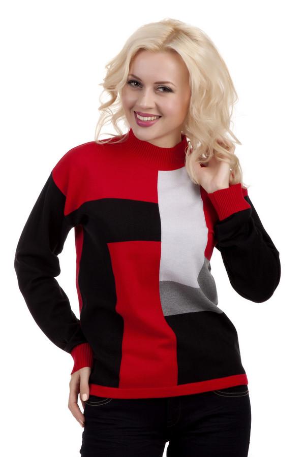Пуловер LebekПуловеры<br>Очень стильный, теплый пуловер Lebek в стиле колорблокинг с воротником средней высоты. Такой пуловер будет греть вас в холодный дождливый день. Благодаря классическим узорам его могут себе позволить надевать юные приверженки строгого стиля, а так же зрелые женщины, которые предпочитают строгость во всем. Не смотря на яркий красный цвет, он отлично подходит даже для работы в офисе.<br><br>Размер RU: 50<br>Пол: Женский<br>Возраст: Взрослый<br>Материал: полиамид 14%, полиакрил 46%, модал 46%<br>Цвет: Разноцветный