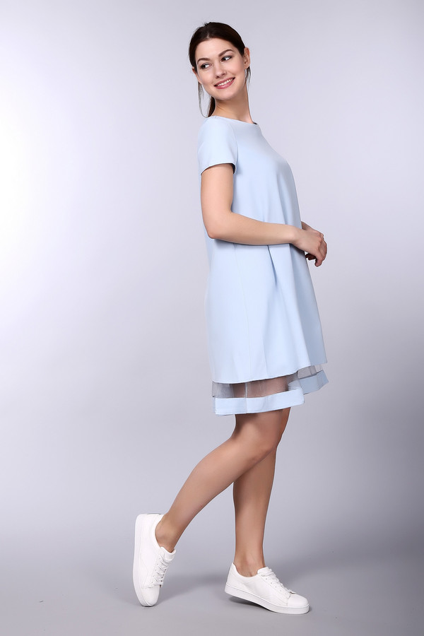 Платье ArgentПлатья<br><br><br>Размер RU: 44<br>Пол: Женский<br>Возраст: Взрослый<br>Материал: полиэстер 30%, вискоза 65%, лайкра 5%<br>Цвет: Голубой