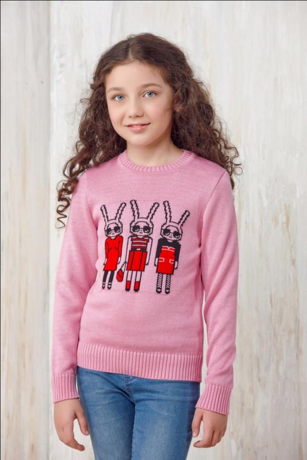 джемпер vay для девочки, розовый