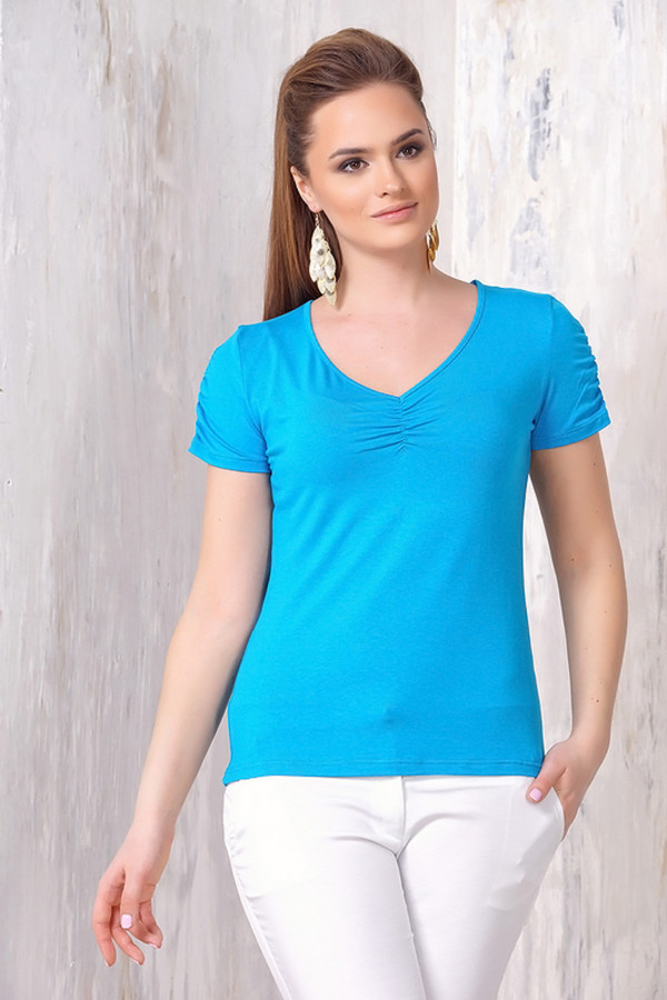 Блузa VAYБлузы<br><br><br>Размер RU: 52<br>Пол: Женский<br>Возраст: Взрослый<br>Материал: эластан 5%, вискоза 95%<br>Цвет: Голубой
