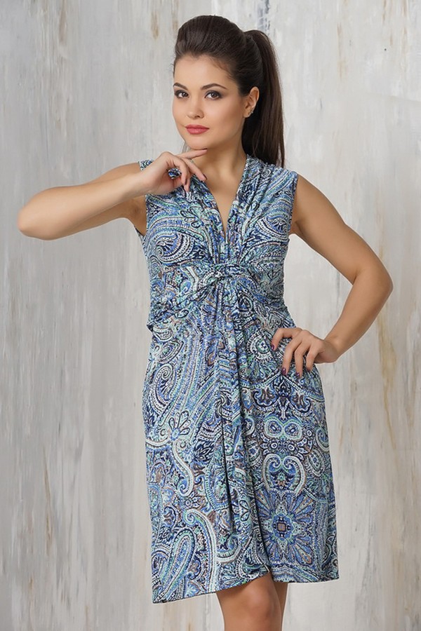 Платье VAYПлатья<br><br><br>Размер RU: 52<br>Пол: Женский<br>Возраст: Взрослый<br>Материал: эластан 5%, микро фибре 95%<br>Цвет: Разноцветный