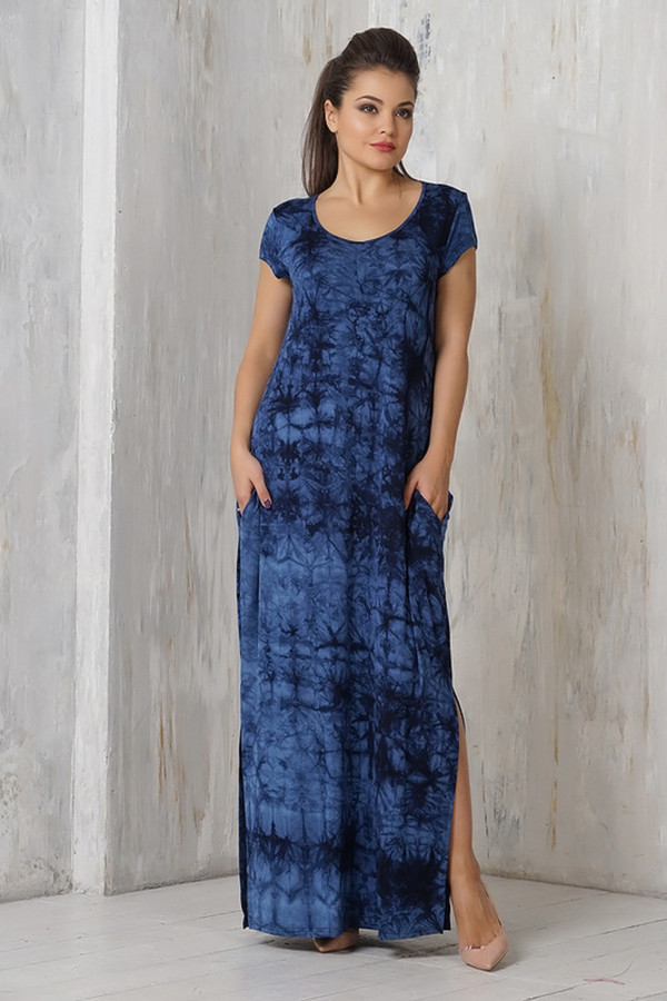 Платье VAYПлатья<br><br><br>Размер RU: 52<br>Пол: Женский<br>Возраст: Взрослый<br>Материал: эластан 5%, вискоза 95%<br>Цвет: Синий
