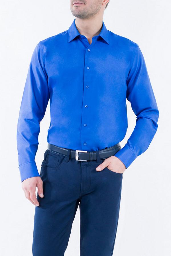 Рубашка Greg HormanРубашки и сорочки<br><br><br>Размер RU: 48<br>Пол: Мужской<br>Возраст: Взрослый<br>Материал: полиэстер 20%, хлопок 80%<br>Цвет: Синий
