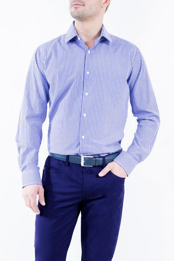 Рубашка Greg HormanРубашки и сорочки<br><br><br>Размер RU: 52<br>Пол: Мужской<br>Возраст: Взрослый<br>Материал: полиэстер 20%, хлопок 80%<br>Цвет: Синий