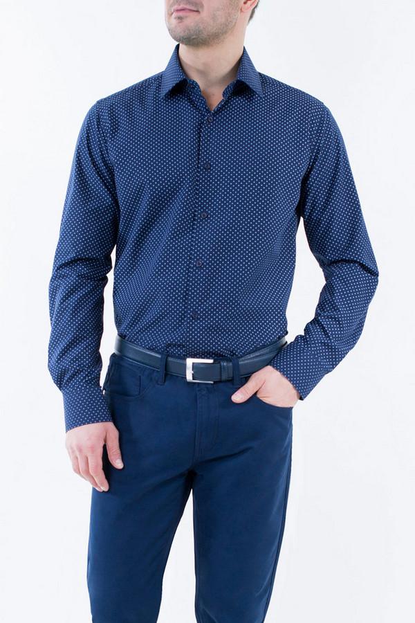 Рубашка Greg HormanРубашки и сорочки<br><br><br>Размер RU: 44-46<br>Пол: Мужской<br>Возраст: Взрослый<br>Материал: полиэстер 20%, хлопок 80%<br>Цвет: Синий