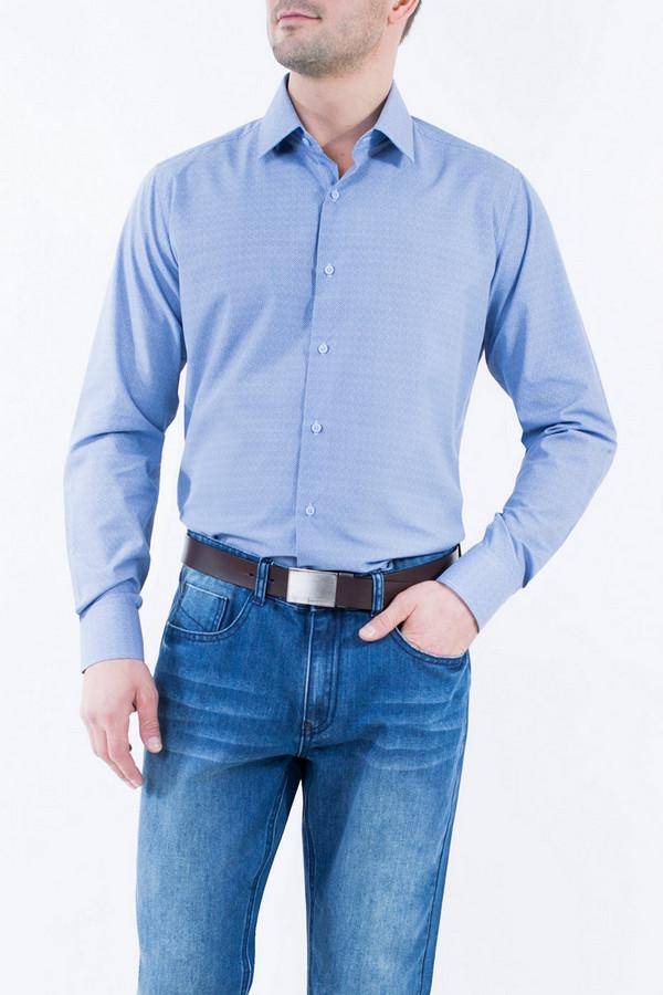 Рубашка Greg HormanРубашки и сорочки<br><br><br>Размер RU: 56<br>Пол: Мужской<br>Возраст: Взрослый<br>Материал: полиэстер 20%, хлопок 80%<br>Цвет: Синий
