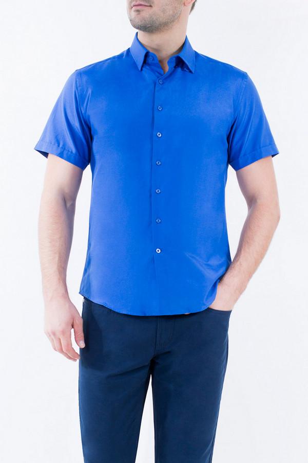 Рубашка Greg HormanРубашки и сорочки<br><br><br>Размер RU: 54<br>Пол: Мужской<br>Возраст: Взрослый<br>Материал: полиэстер 20%, хлопок 80%<br>Цвет: Синий