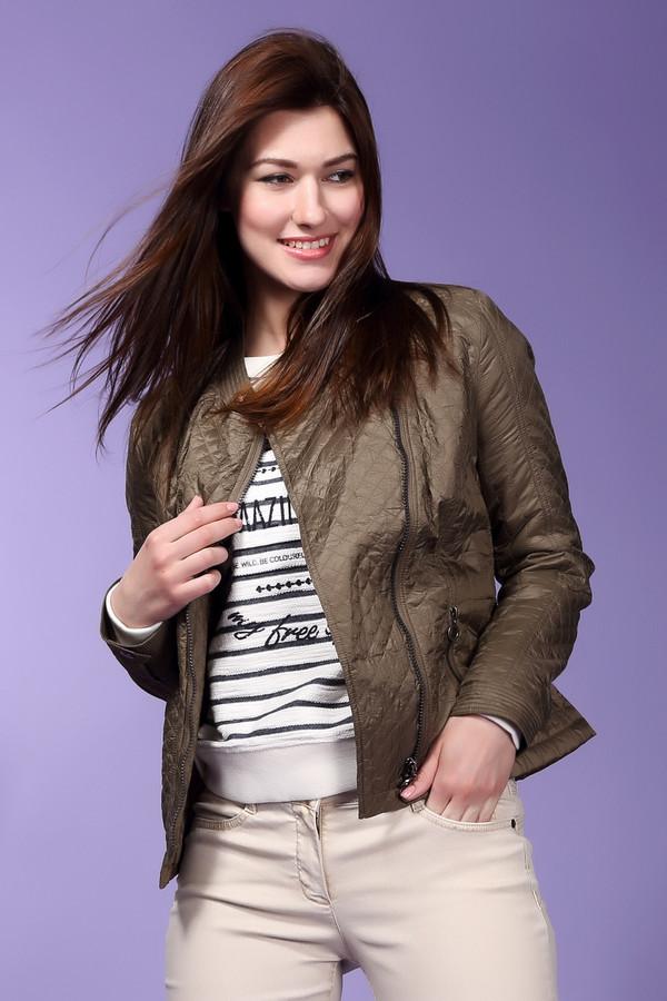 Куртка ErfoКуртки<br>Стильная стеганая куртка Erfo приятной расцветки. Изделие приталенного кроя застегивается на косую молнию, воротник-стойка с застежкой-кнопка, по бокам два кармана на молнии. Женственная куртка прекрасно будет смотреться как с юбками, так и с джинсами.<br><br>Размер RU: 48<br>Пол: Женский<br>Возраст: Взрослый<br>Материал: полиамид 100%<br>Цвет: Коричневый