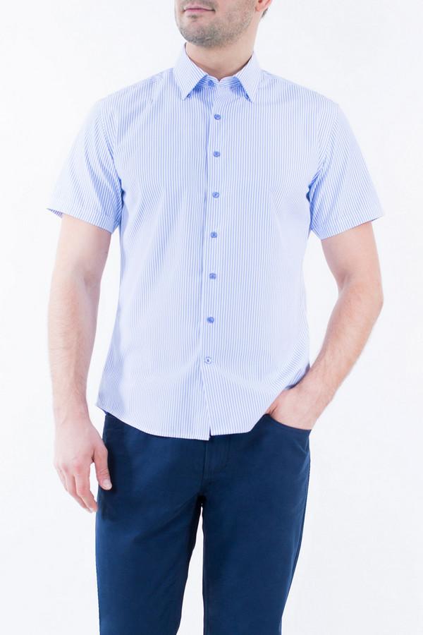 Рубашка Greg HormanРубашки и сорочки<br><br><br>Размер RU: 48<br>Пол: Мужской<br>Возраст: Взрослый<br>Материал: полиэстер 20%, хлопок 80%<br>Цвет: Голубой
