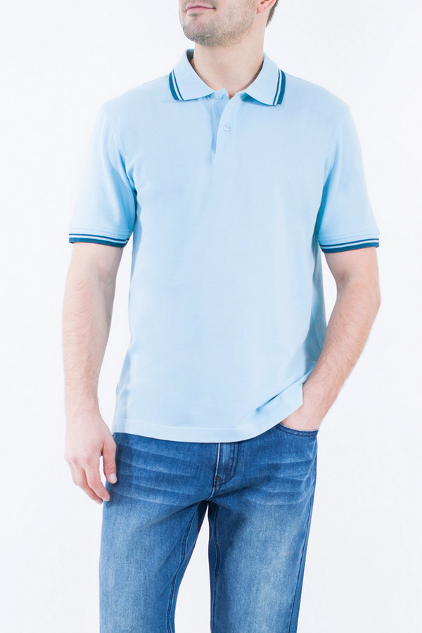 Поло Greg HormanПоло<br><br><br>Размер RU: 48<br>Пол: Мужской<br>Возраст: Взрослый<br>Материал: хлопок 100%<br>Цвет: Голубой