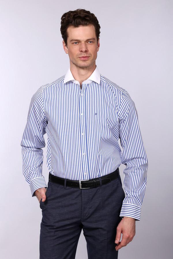 Рубашка с длинным рукавом Just ValeriДлинный рукав<br><br><br>Размер RU: 41<br>Пол: Мужской<br>Возраст: Взрослый<br>Материал: хлопок 100%<br>Цвет: Синий