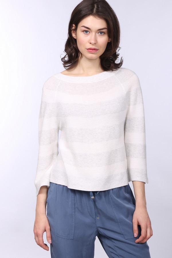 Пуловер OuiПуловеры<br><br><br>Размер RU: 42<br>Пол: Женский<br>Возраст: Взрослый<br>Материал: хлопок 100%<br>Цвет: Серый