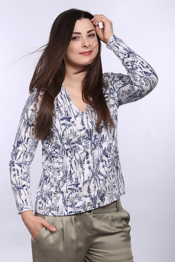 Пуловер Gerry WeberПуловеры<br><br><br>Размер RU: 48<br>Пол: Женский<br>Возраст: Взрослый<br>Материал: хлопок 100%<br>Цвет: Синий