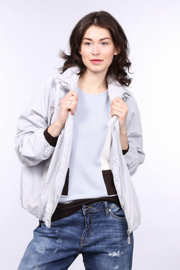 Куртка LebekКуртки<br><br><br>Размер RU: 46<br>Пол: Женский<br>Возраст: Взрослый<br>Материал: полиэстер 100%, Состав_подкладка полиэстер 100%<br>Цвет: Серый