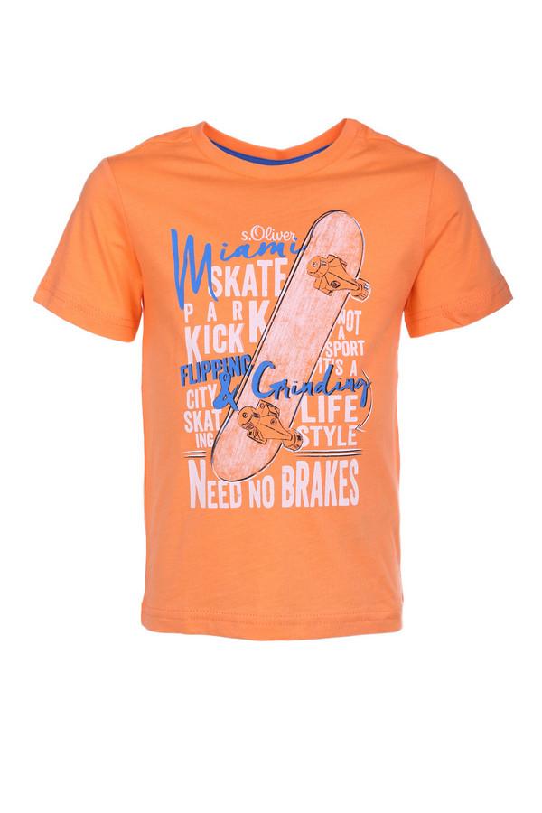 Футболки и поло s.OliverФутболки и поло<br><br><br>Размер RU: 30;116-122<br>Пол: Мужской<br>Возраст: Детский<br>Материал: хлопок 100%<br>Цвет: Оранжевый