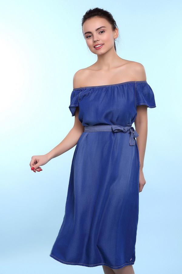 Платье s.OliverПлатья<br><br><br>Размер RU: 44;164<br>Пол: Женский<br>Возраст: Детский<br>Материал: целлюлоза 100%<br>Цвет: Синий