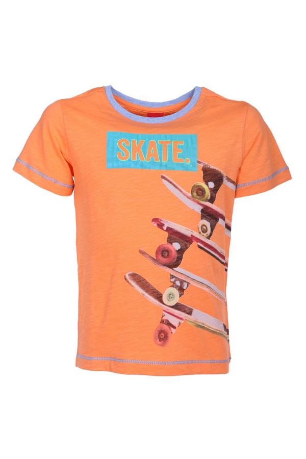 Футболки и поло s.OliverФутболки и поло<br><br><br>Размер RU: 32-34;128-134<br>Пол: Мужской<br>Возраст: Детский<br>Материал: хлопок 100%<br>Цвет: Оранжевый