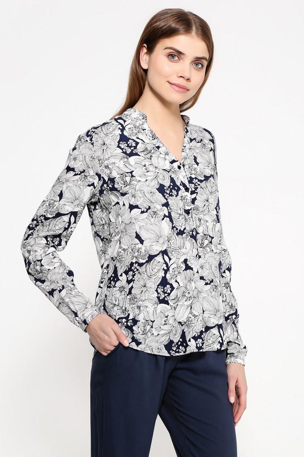 Блузa FINN FLAREБлузы<br>Эта блузка невероятно сочных цветов преобразит самый скучный офисный образ. Запоминающийся сине-белый принт в виде цветов и свободный крой модели делают её по-настоящему весенне-летним элементом гардероба. Аккуратный V-образный вырез с тремя пуговицами, которые при желании можно расстегнуть, длинные рукава, струящаяся, но прочная вискоза – такая блузка будет нелишней в гардеробе любой женщины.<br><br>Размер RU: 50<br>Пол: Женский<br>Возраст: Взрослый<br>Материал: вискоза 100%<br>Цвет: Разноцветный