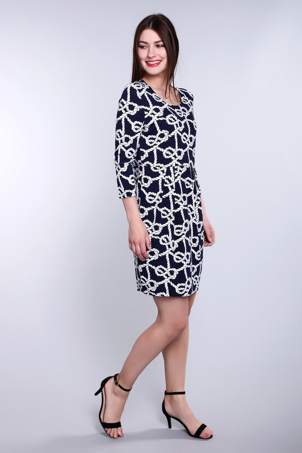 Платье Gerry WeberПлатья<br><br><br>Размер RU: 52<br>Пол: Женский<br>Возраст: Взрослый<br>Материал: эластан 6%, вискоза 94%<br>Цвет: Белый