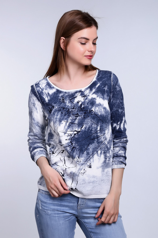 Пуловер OuiПуловеры<br><br><br>Размер RU: 44<br>Пол: Женский<br>Возраст: Взрослый<br>Материал: хлопок 100%<br>Цвет: Белый