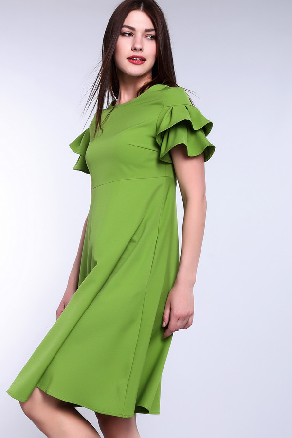 Платье ArgentПлатья<br><br><br>Размер RU: 52<br>Пол: Женский<br>Возраст: Взрослый<br>Материал: лайкра 5%, вискоза 65%, полиэстер 30%<br>Цвет: Зелёный