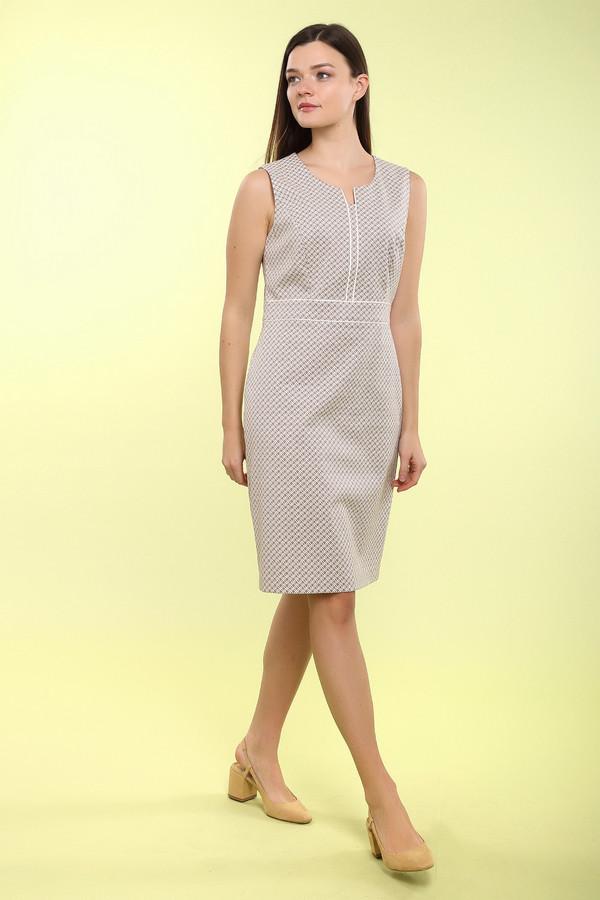 Платье Gerry WeberПлатья<br><br><br>Размер RU: 44<br>Пол: Женский<br>Возраст: Взрослый<br>Материал: эластан 4%, полиамид 36%, хлопок 60%, Состав_подкладка полиэстер 100%<br>Цвет: Белый