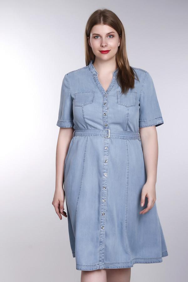 Платье Gerry WeberПлатья<br><br><br>Размер RU: 50<br>Пол: Женский<br>Возраст: Взрослый<br>Материал: лиоцел 100%<br>Цвет: Голубой