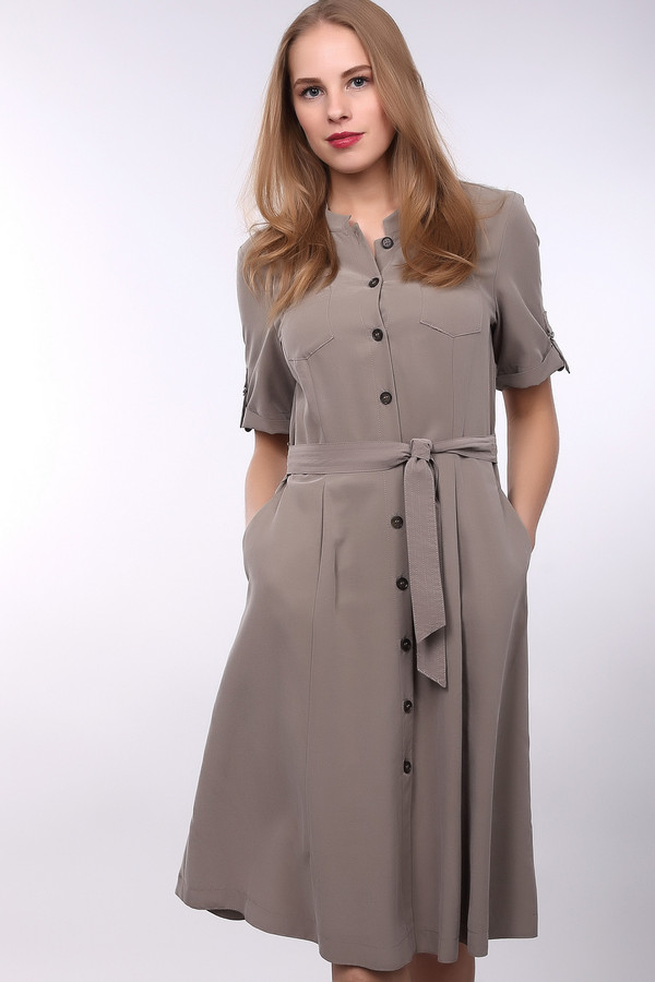 Платье Gerry WeberПлатья<br><br><br>Размер RU: 44<br>Пол: Женский<br>Возраст: Взрослый<br>Материал: полиэстер 13%, модал 87%<br>Цвет: Бежевый