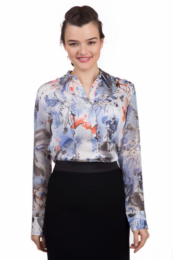 Рубашка с длинным рукавом PezzoДлинный рукав<br>Женственная рубашка Pezzo приталенного кроя с длинным рукавом. Рубашка дополнена: потрясающим абстрактным цветочным принтом, отложным воротником и манжетами с пуговицами. Центральная часть изделия застегивается на пуговицы.<br><br>Размер RU: 50<br>Пол: Женский<br>Возраст: Взрослый<br>Материал: полиэстер 100%<br>Цвет: Разноцветный