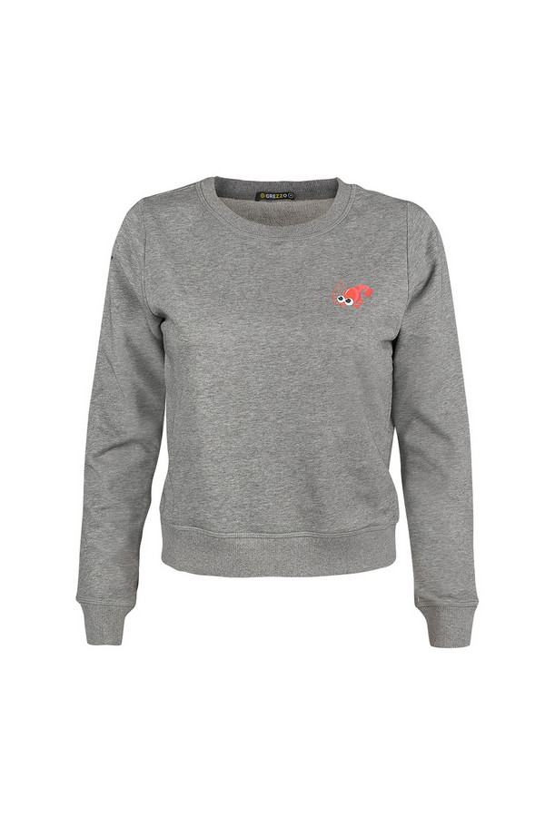 Пуловер GrezzoПуловеры<br><br><br>Размер RU: 46-48<br>Пол: Женский<br>Возраст: Взрослый<br>Материал: хлопок 100%<br>Цвет: Серый