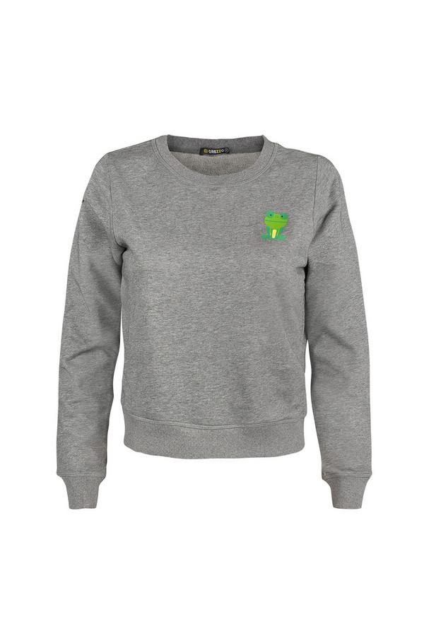 Пуловер GrezzoПуловеры<br><br><br>Размер RU: 44-46<br>Пол: Женский<br>Возраст: Взрослый<br>Материал: хлопок 100%<br>Цвет: Серый
