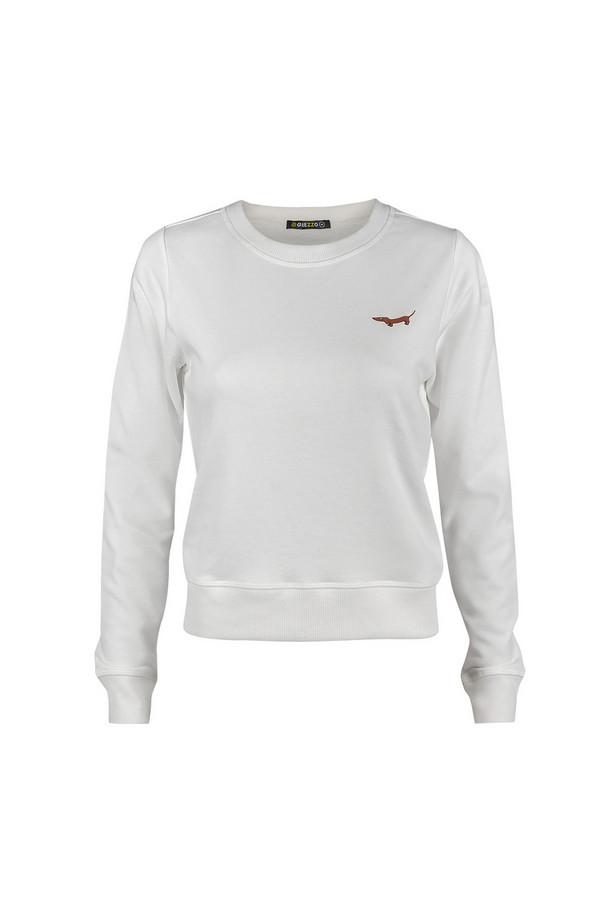 Пуловер GrezzoПуловеры<br><br><br>Размер RU: 48-50<br>Пол: Женский<br>Возраст: Взрослый<br>Материал: хлопок 100%<br>Цвет: Белый