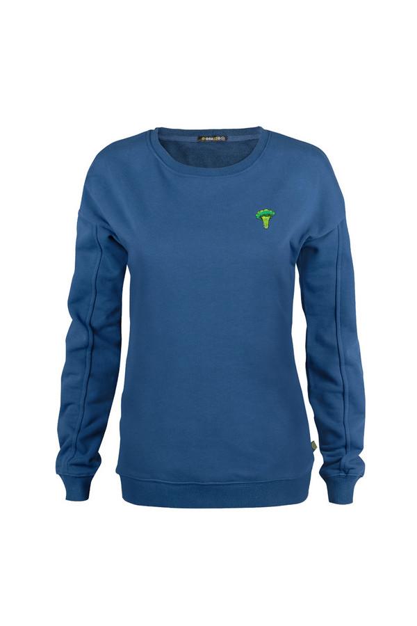 Пуловер GrezzoПуловеры<br><br><br>Размер RU: 48-50<br>Пол: Женский<br>Возраст: Взрослый<br>Материал: хлопок 100%<br>Цвет: Синий