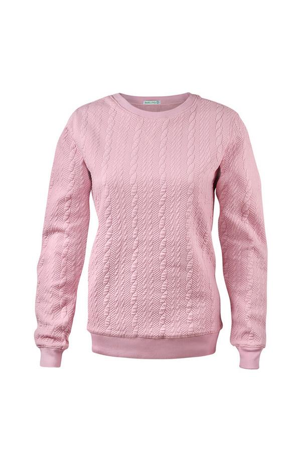 Пуловер SabellinoПуловеры<br><br><br>Размер RU: 46-48<br>Пол: Женский<br>Возраст: Взрослый<br>Материал: полиэстер 52%, хлопок 46%, спандекс 2%<br>Цвет: Розовый