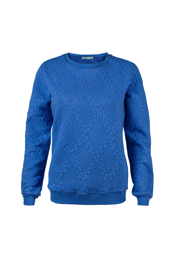Пуловер SabellinoПуловеры<br><br><br>Размер RU: 44-46<br>Пол: Женский<br>Возраст: Взрослый<br>Материал: полиэстер 52%, хлопок 46%, спандекс 2%<br>Цвет: Синий