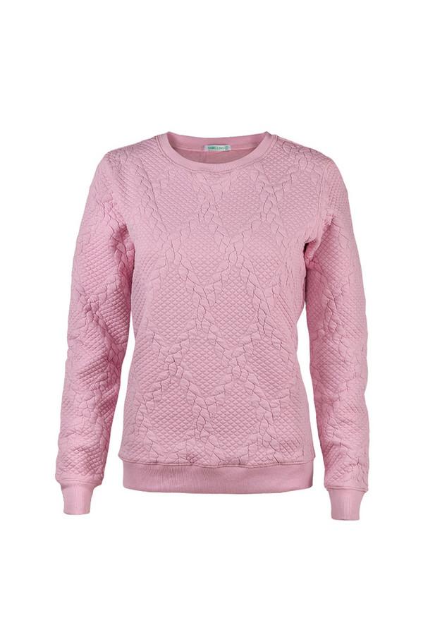 Пуловер SabellinoПуловеры<br><br><br>Размер RU: 44-46<br>Пол: Женский<br>Возраст: Взрослый<br>Материал: полиэстер 52%, хлопок 46%, спандекс 2%<br>Цвет: Розовый