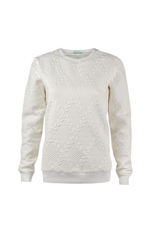Пуловер SabellinoПуловеры<br><br><br>Размер RU: 50-52<br>Пол: Женский<br>Возраст: Взрослый<br>Материал: полиэстер 52%, хлопок 46%, спандекс 2%<br>Цвет: Белый