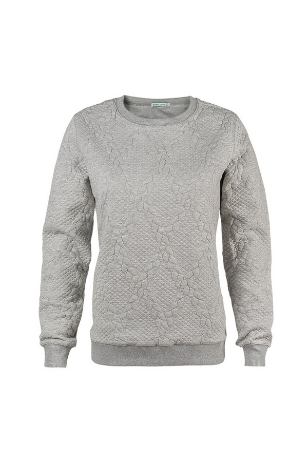 Пуловер SabellinoПуловеры<br><br><br>Размер RU: 48-50<br>Пол: Женский<br>Возраст: Взрослый<br>Материал: полиэстер 52%, хлопок 46%, спандекс 2%<br>Цвет: Серый